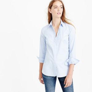 J. crew petite favorite shirt in light blue